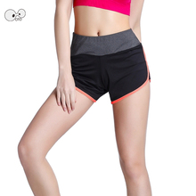 Women Fake 2 In 1 Gym Breathable Running Shorts Sport Short Fitness Ladies Exercise Yoga Panties Quick Dry Tennis Tights Femme(China)