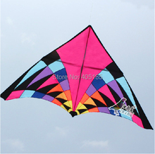 Free Shipping Outdoor Fun Sports 5m Power Triangle Kite Flying Multicolor Factory Direct(China)