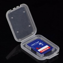 10pcs Memory Card Case Plastic Storage Box Flash Memory SD Card Holder Protector Storage Box Cover 4.7cmx3.8cmx0.8cm(China)