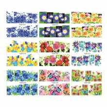 YZWLE 1 Sheet Optional Nail Art Water Transfer Sticker NEW DIY 3D Full Cover Flower Design Beauty Decals Nail Art Decorations