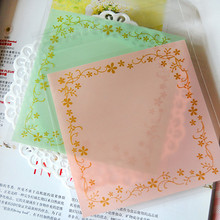 100pcs 12x12+3cm Green Pink Flower  Bakery Cookie Candy Sweet Biscuit Gift Soap Favor Cello Self-Adhesive OPP Plastic Bag