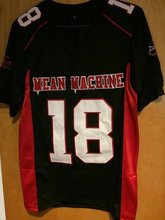 SexeMara American Football Jerseys Movie Adam Sandler 18 Paul Crewe Mean Machine Convicts Football Jersey Stitched Sewn Black(China)