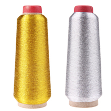 Computer Cross-stitch Embroidery Thread Line Textile Metallic Yarn Woven Sewing Machine Cone Threads Gold Silver(China)