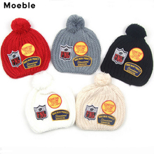 Moeble Boys girls crocheted cap Children winter knitted hat Kids beanie baby line caps Manual caps photography props 1pc H118