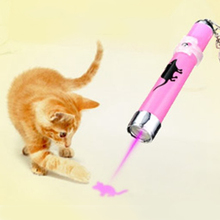 Newest Design Funny Pet Cat Toys LED Laser Pointer Light Pen With Bright Animation Mouse Shadow Cat's Favor Pet Funny Toy