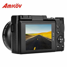 AMKOV CDR2 CD-R2 4X Digital Camera Video Camcorder with 3 inch TFT Screen with UV Filter 0.45X Super Wide Angle Lens(China)