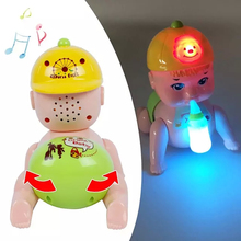 Beautiful Electric Dolls Will Call Father And Mother Baby Boy Crawling Children Electric Toys Crawling Toys Early Childhood