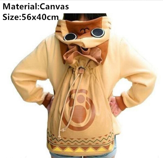 Game Monster Hunter 4 Toy Anime Cosplay Airou Airu Cat Shoulder Bag Backpack Cosplay Gift<br>
