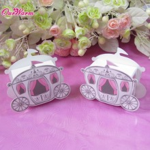 25 pcs/lot, Hot Sale Cinderella Enchanted Carriage Marriage Box Wedding Favor Boxes Gift box Candy box(China)