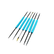6PCS Hand Tool Sets Professional Steel Solder Assist Precision Electronic Components Welding Grinding Cleaning Repair Tool Set