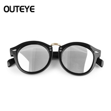 OUTEYE Kids Sunglasses Child Baby Safety Mirror Coating metal Sun Glasses UV400 Eyewear Shades Infant Boy Girl Goggle Summer F4