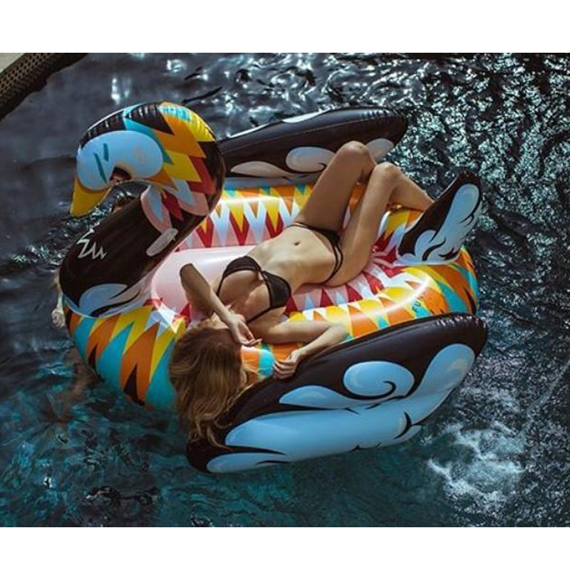 190cm-Colorful-Swan-Pool-Float-Women-Inflatable-Floating-Row-Ride-on-Swimming-Rings-Beach-Party-Deco
