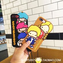 Lovely 3D Dolls Phone Silicone Case For iPhone6 6s 6plus 7 7Plus Mobile Phone Protector Back Cover Shell Housing
