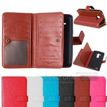 Retro Wallet Protective Phone PU Leather Case for LG L70 D320 D325 Cell Phone Flip Case with 9 Card Holder Case for LG L70 Cover
