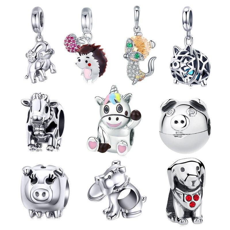 Brand Fashion Cute Cartoon Style Charm Bead Fit European 925 Silver Bracelet Diy