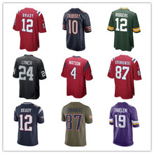 Men's Tom Brady Mitchell Trubisky Aaron Rodgers Marshawn Lynch Deshaun Watson Adam Thielen 2017 New Cheap Jersey(China)