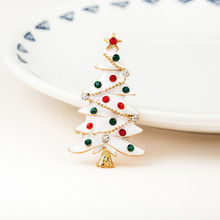 Christmas Brooches XMAS Tree Pin Snowman Brooch Jewelry beautiful accessories Nice Clothing accessories integrate jewelry case(China)