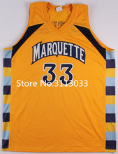 New Jimmy Butler #33 Trrowback College Marquette Golden Eagles Basketball Jersey(China)