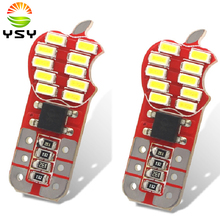 50pcsWhite Auto T10 W5W Wedge Light Parking Bulb Canbus Error Free Apple Shell 20 Emitters 3014 SMD LED DC 12V