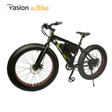 "PASION E BIKE 36V 500W  powerful electric fat bike 36V Lithium Battery E bicycle 26""X4.0 Off road Electric bicycle"
