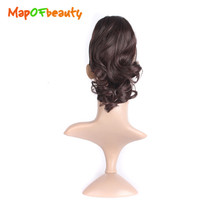 Short Curly Gripper Ponytail in Hairpiece Hair Extensions black brown 3 color Heat Resistant Synthetic hair MapofBeauty(China)