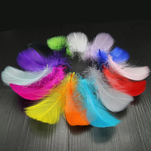 DIY Goose Feathers Retail 100 pcs 8-12cm 3-4 inches Goose Feather Plumes  Feathers Washed Goose Down Fluffy Plume For Wedding