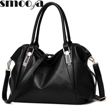 SMOOZA Designer Women Handbag Female PU Leather Bags Handbags Ladies Portable Shoulder Bag Office Ladies Hobos Bag Totes(China)