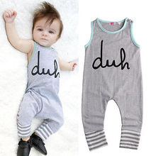 Newborn Summer Rompers 2016 Cute Toddler Baby Girl Boy Bear Jumpers Rompers Playsuit Outfits Clothes 0-24M(China)