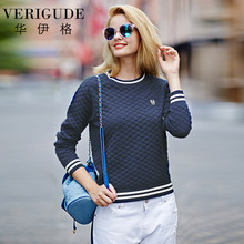 Veri Gude Contrast Color College Style Girls Knitted Sweater Pullover One Size Medium Thick(China)