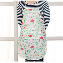 2015 Hot Flower Apron Water Resistant Resuable Home Kitchen Restaurant Cooking Apron For Women Print Floral Apron