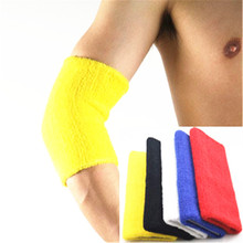 Adult Cotton Elbow Supports Armband Braces Basketball/Tennis/Badminton Pads Universally Gym Arm Protector Soft Sports Guard(China)
