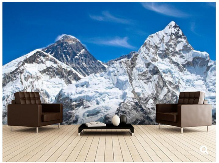 Custom natural scenery wallpaper,Everest and Lhotse mountain peaks,modern photo mural for living room restaurant hotel wallpaper<br>