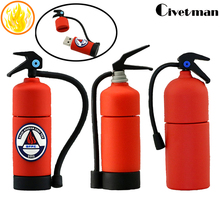 100% Real Capacity Pen-drive Fire Extinguisher Model 4GB 8GB 16GB 32GB 64GB USB Flash Drive, Flash Memory Stick Pendrive Gifts(China)