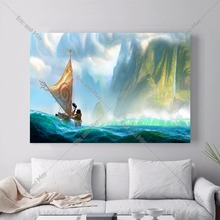 Moana Movie Artwork Canvas Art Print Painting Poster Wall Pictures For Living Room Home Decorative Decor No Frame