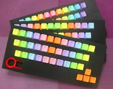 Side-printed Top-printed 37 ABS or PBT Keycaps Rainbow Keycaps For Mechanical Keyboard(China)