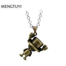 J store Anime One Piece Necklace Tony Tony Chopper pendant necklace men figure charm chain Collier cosplay souvenir gift jewelry(China)