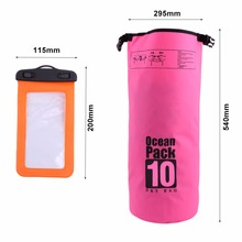 Outdoor Swimming Waterproof Bags Backpack Lightweight Dry Sack/Dry Bags with Seals and Phone Case Beach Floating Storage Bag