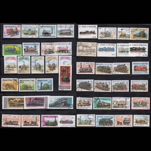 50 PCS / lot Topic Train All Different Middle And Big Size World wide Lot Postage Stamps For Colleciton