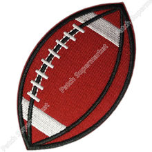 "3.5"" SPORT BALL Football Logo Iron On Patch jersey Sport Embroidered Iron On Sew On Patch Badge wholesale cheap dropship"