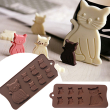New Cat Kitten 7 Cavity Silicone Mold for Fondant, Gum Paste, Chocolate, Crafts MF100