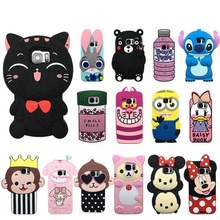 3d case for samsung galaxy S6 S7 edge silicone cartoon case mickey minnie mouse bear rabbit soft rubber cover for galaxy note 5