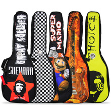Free shipping super thick with cotton 40/41inch shoulders guitar bag,high quality catch the eye pattern guitar blackpack bags