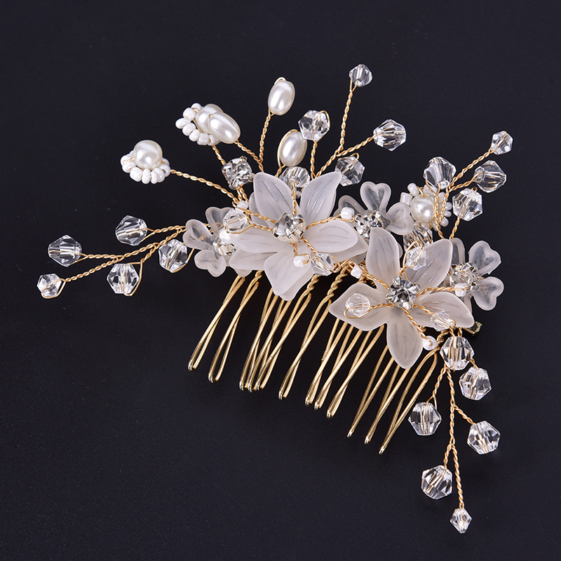 Rhinestone Flowers Leaf Wedding Hairbands Bride Headband Crown And Tiaras Bridal Hair Accessories Hair Bands Jewelry