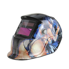 Solar Auto Darkening Arc Tig Mig Welding with Grinding Function Helmet Welder Mask Welding Machine(China)