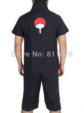 Naruto Uchiha Sasuke Cosplay Costume 2nd Generation Suit Short-Sleeved T-Shirts Tee Shirt Tops Pants