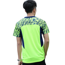 New men's neck tennis shirts, tennis shirts, speed short, short sleeved sports T-shirts, free shipping(China)
