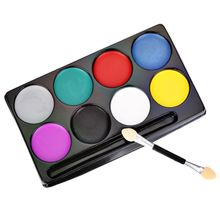 Fashion Halloween Party Makeup Flash Tattoo Face Body Paint Oil Painting Art Non-toxic Water Paint Oil Face Painting Set 01(China)