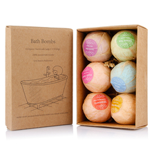 6pcs/pack Bath Bomb Salt Ball Set Essential Oil Skin Care Cleaner Body Massage Beauty SPA Whitening Fragrant Christmas Gift(China)