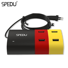 Buy SPEDU 4 Ports phone charger Desktop USB Charger Portable Tarvel EU Plug Wall Charger Adapter iPhone 6 Mobile laptop Charger for $14.75 in AliExpress store