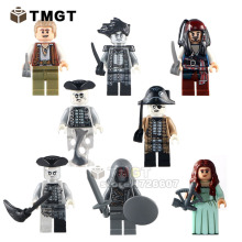 TMGT 8pcs/lot PG8048 Pirates of the Caribbean Lesaro Captain Jack Edward Mermaid Davy Jones Buildng Blocks Baby Toys(China)